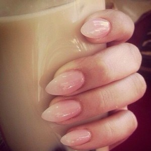 almond acrylic nails
